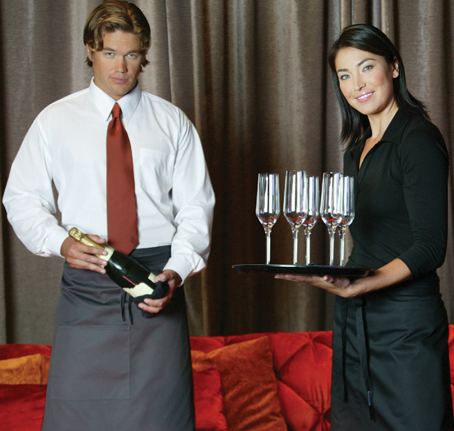 server, waiter and waitress uniforms - waiter and waitress shirts - server shirts