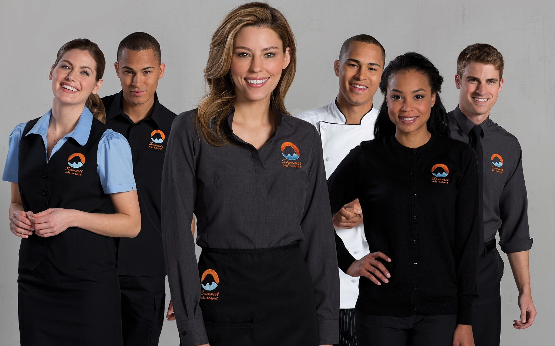 Leading employee uniforms online supplier uniform for Spa employee uniform
