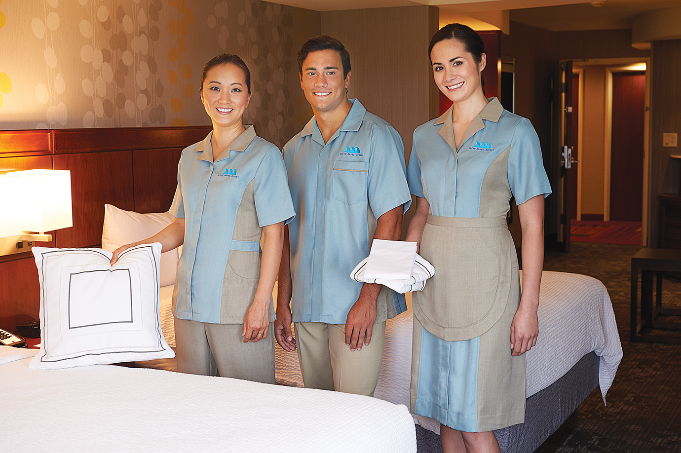Custom vs in stock staff uniforms uniform solutions for you for Hotel design jersey