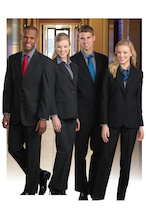 Hotel uniforms.
